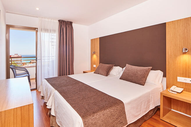 double room with sea view in hotel principe en playa de palma
